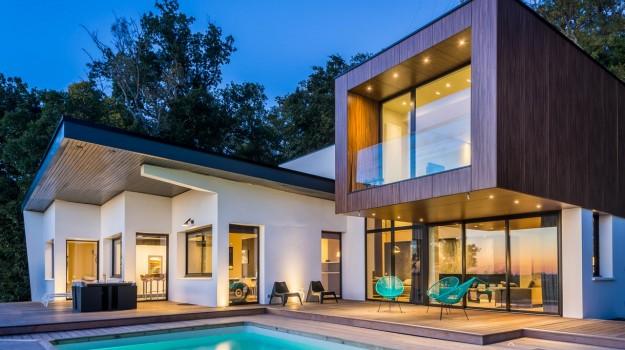 projet d 39 architecture int grer le paysage la maison. Black Bedroom Furniture Sets. Home Design Ideas