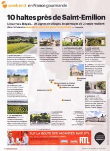 Photo dans un article d'Aujourd'hui en France Magazine