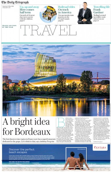 Parution Daily Telegraph Travel en date du 28 Mai 2016