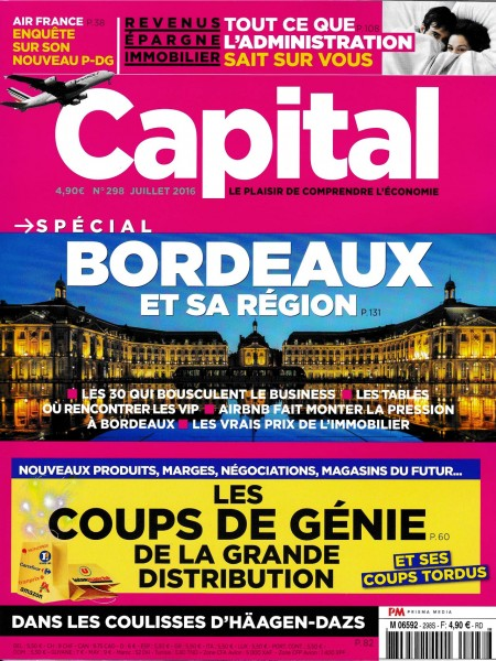 Parution Capital en date de Juillet 2016