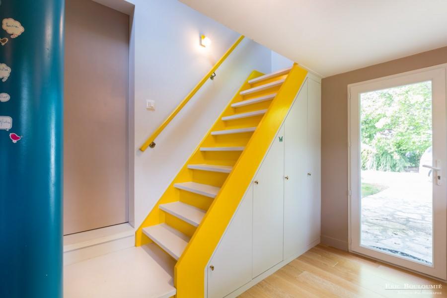 Reportage photo d'architecture dans une maison individuelle sur la commune du Teich