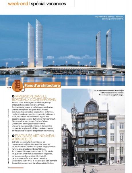 Article dans le parisien magazine avec une photo du pont Chaban-Delmas