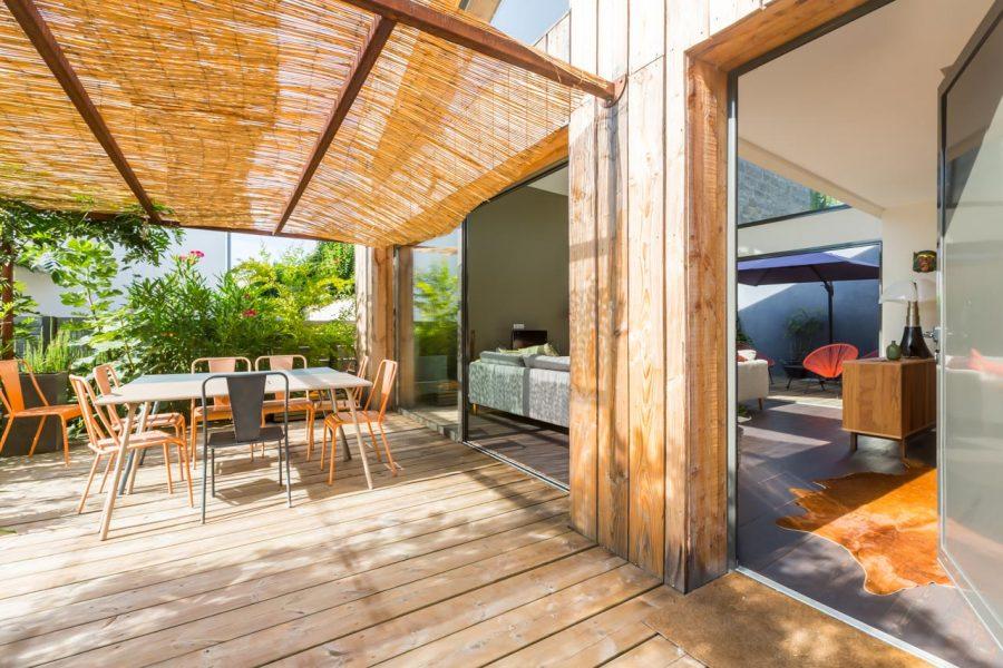 photographe d'architecture : terrasse couverte